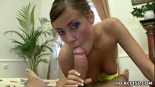 Beautiful POV blowjob with hottie!