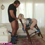 Blonde Teen Schoolgirl Step Sister BDSM Deepthroat
