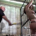 Female prisoner whipping and harsh bondage punishments of amateur bdsm slave Bea