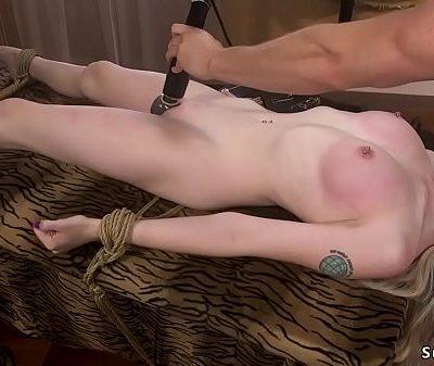 Skinny pale blonde anal fucked bdsm