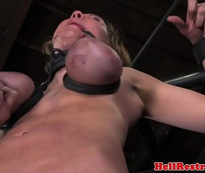 Tit penalized ball gagged bdsm sub