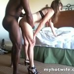 Jackie My white wife takes black cock